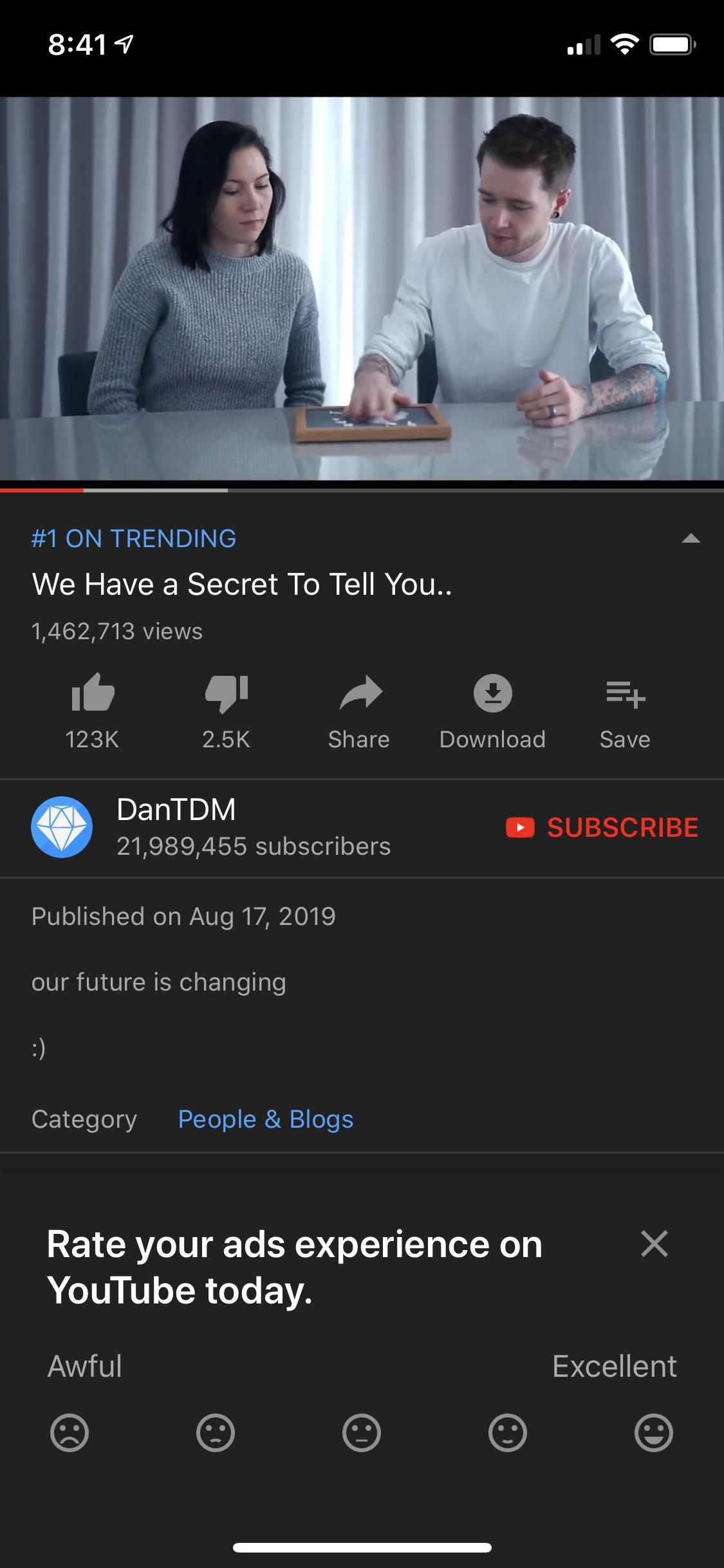 Youtube ads with premium