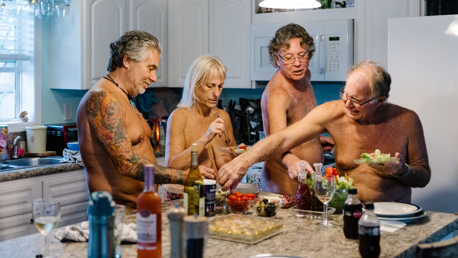 First time nudist family
