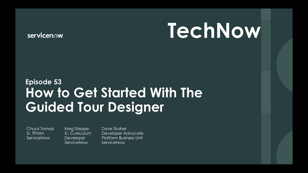 Servicenow guided tour